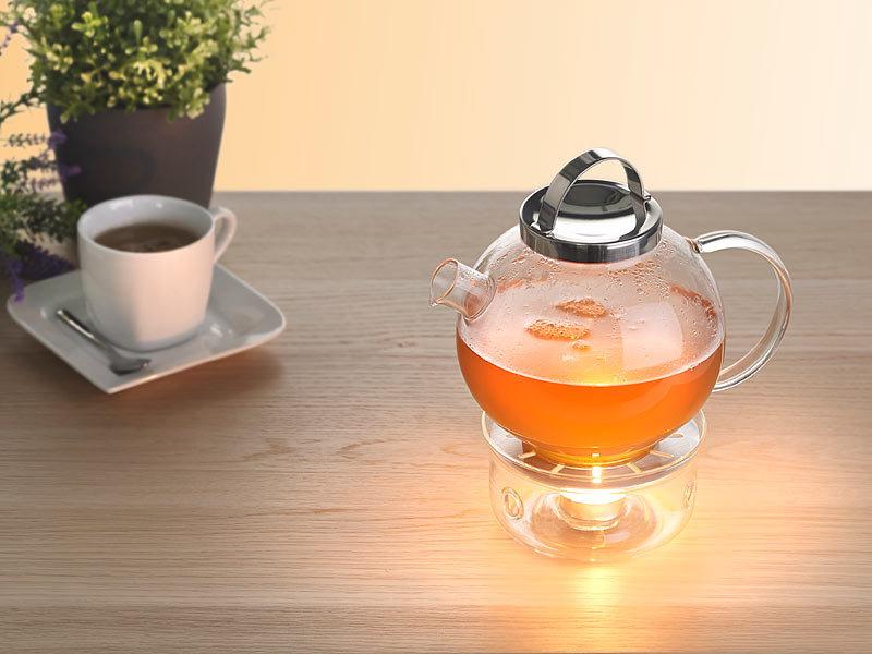 Cucina Di Modena Tee Set Aus Glaskanne Mit Edelstahl Sieb