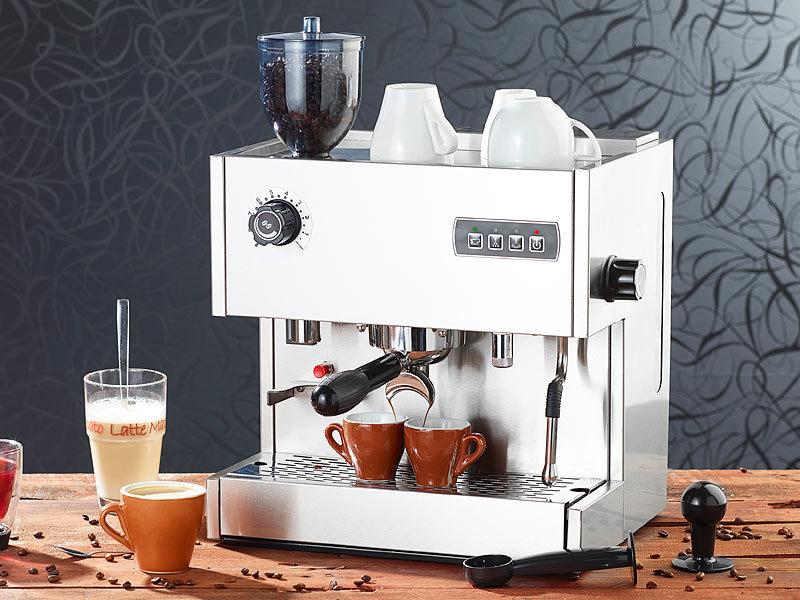 Cucina di Modena Siebträger-Espressomaschine ES-1500.mw mit Mahlwerk